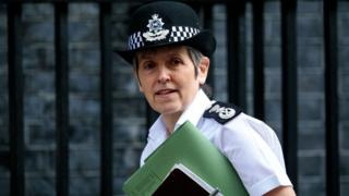 Commissioner of the Metropolitan Police Service Cressida Dick arrives at Number 10 Downing Street on April 1, 2019