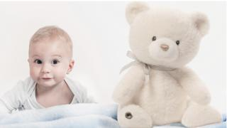 Baby and Teddy the Guardian