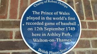 Plaque in Walton-on-Thames