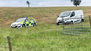Police car and van