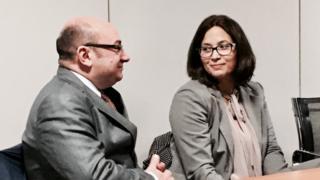 Marcello Galli e Manuela Magalhães