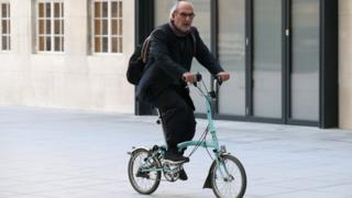 Alan Yentob arrives at the BBC