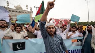 पाकिस्तान प्रशासित कश्मीर में प्रदर्शन