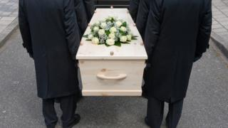 Bearers with a coffin