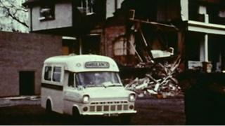 Several people were hurt in the 1972 blast at the university's sports hall in 1972