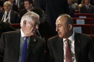 Rex Tillerson ve Mevlüt Çavuşoğlu