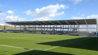 Sixfields Stadium's unfinished East Stand