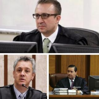 Rogerio Favreto, João Pedro Gebran Neto e Carlos Eduardo Thompson Flores