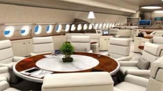 L'intérieur luxueux de l'avion de Ben Ali
