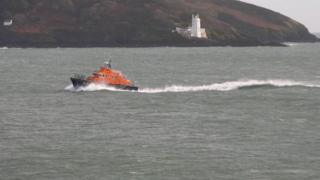 Stock image of Plymouth lifeboat