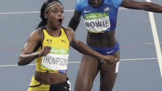 Thompson sumó su título en 200 metros al que ya había obtenido en 100.