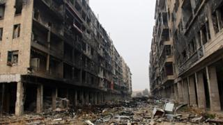 آثار الدمار في حلب