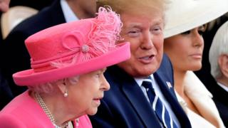 Queen and President Trump