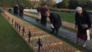 Tributes to soldiers at Cardiff castle