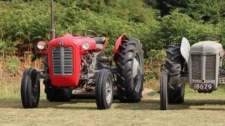Horace Camp's Massey 35 1959 tractor (left)
