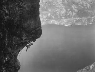 Chris Fisher on Cam Crag
