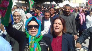 A Sidi Bouzid d'où sont originaires les ouvrières décédées, une grève et des manifestations ont eu lieu