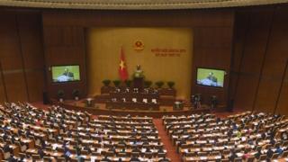 Quốc hội Việt Nam đang họp tại Hà Nội