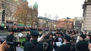 Northern Ireland's main remembrance ceremony in Belfast