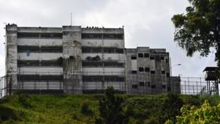 A view of the Ramo Verde penitentiary in Los Teques