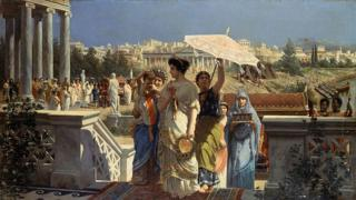 Escena en la antigua Roma