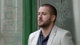 Shayne Ward as Aidan in Coronation Street