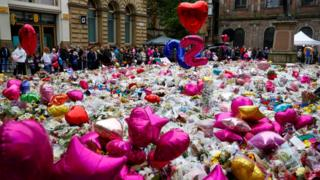 Tributes at St Ann's Square, Manchester