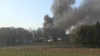 New barn fire