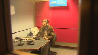 Nathan Gill in BBC Wales radio studio