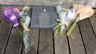 Shoreham air crash flowers on 2nd anniversary