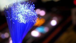 A stock image of fibre optic lights