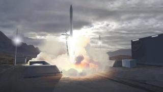 Concept art of Sutherland satellite launch site