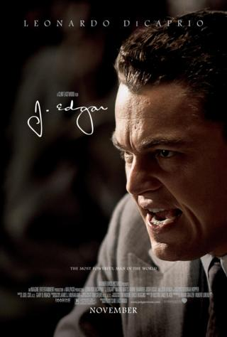 Leonardo DiCaprio's angry face as a likeness of Mr Hoover