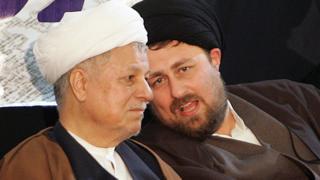 حسن خمینی در کنار اکبر هاشمی رفسنجانی