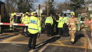 Barns Green level crossing crash