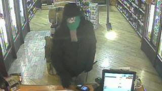 Robber in elephant mask