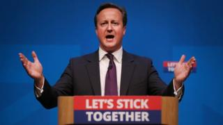 David Cameron campaigning during the Scottish referendum