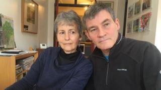 Sue Unwin and her husband John