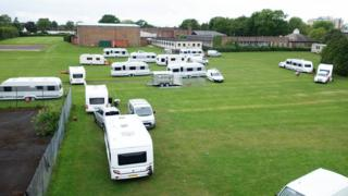 Travellers in Hazelwick School, Crawley