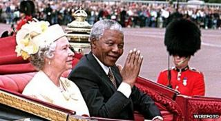 Queen and Nelson Mandela.