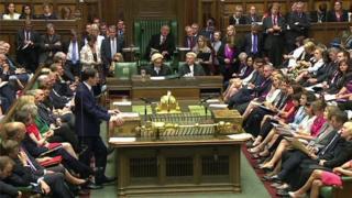 George Osborne addressing the House of Commons