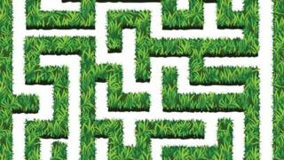 Ilustração de labirinto