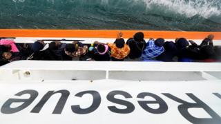 Мигранты на борту