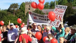 Protest over wind farm