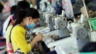 Chinese factory worker