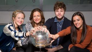 The final four Strictly Come Dancing contestants Kellie Bright, Katie Derham, Jay McGuiness and Georgia May Foote