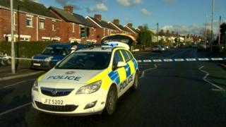 Police at the scene of the incident in Grand Parade