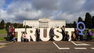 Alliance for Choice use #TrustWomen slogan to advocate a change for women in Northern Ireland