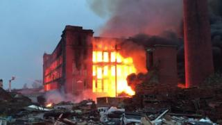 Oldham cotton mill fire