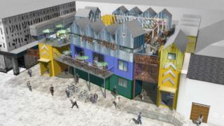 CGI of new shops